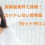 美容室業界で話題!カットしない美容室【セットサロン】って??